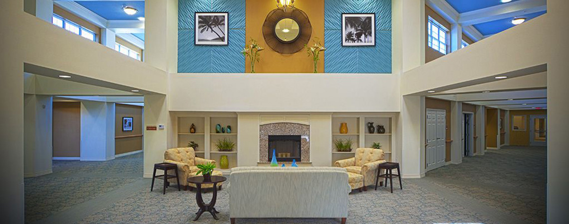 Spacious and elegant 2 story waiting area