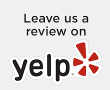 Leave us a review on Yelp button