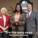 2016 Fine Dining Award, Aventura