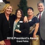 2016 president's award, grand palms