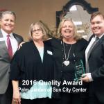 2016 quality award, sun city center