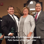 2016 Life enrichment award, sun city center