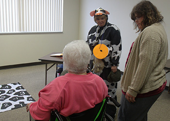 Residents playing a game