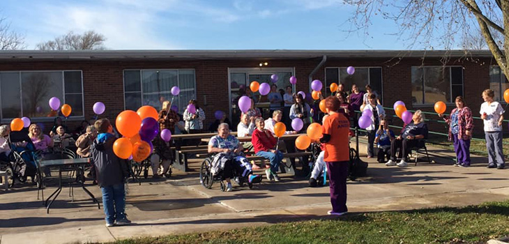 Timber Point residents enjoying the nice weather outside