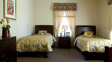 Double occupancy room at Foothill Home