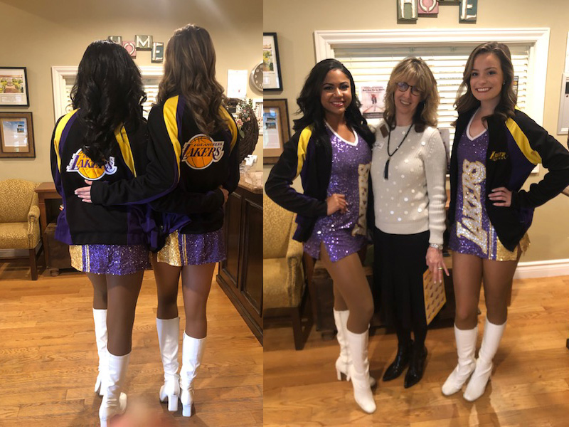 The Laker Girls were here!