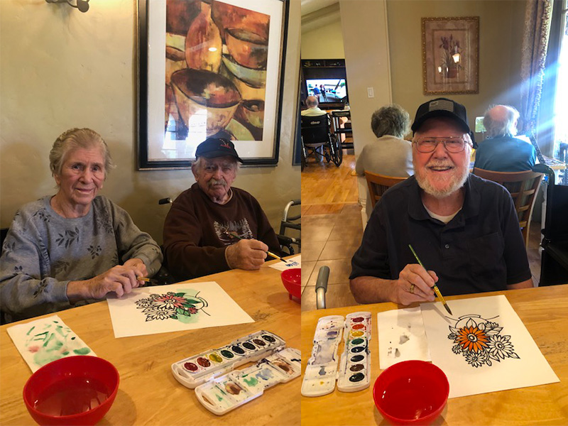 Residents getting to showcase their watercolor talents