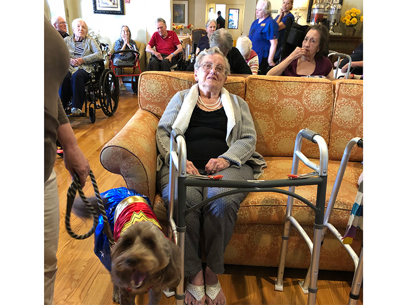 Pet visits are always a great day at Foothill Ranch