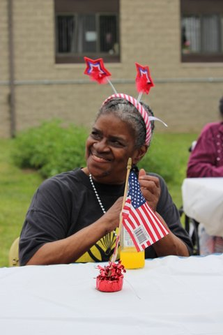 resident enjoying fourth of july