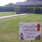Farmington Country Produce Share sign