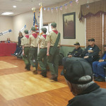 Boy scouts honoring the veterans at Farmington