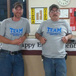 two Environmental Services staff members