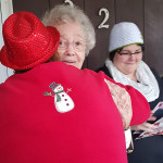 Residents hugging