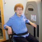 Farmington resident performing rehab exercises