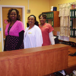 Oak Trace staff members behind the nurses station