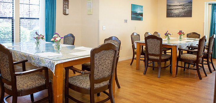 Resident dining area for large groups