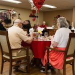 Residents enjoying a holiday meal