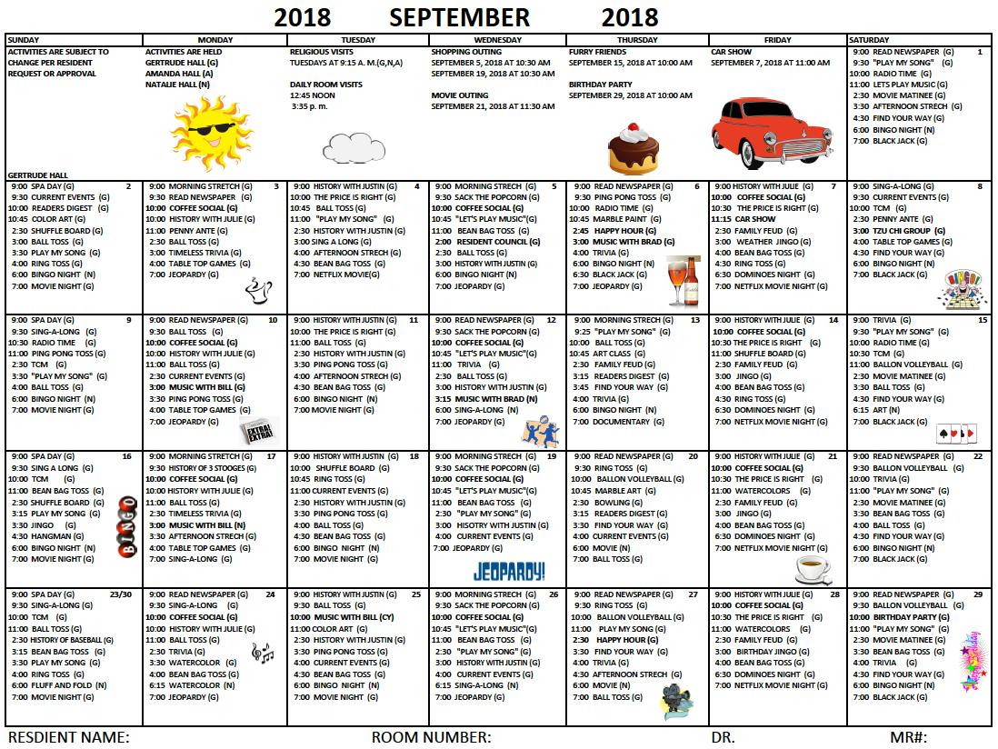 Herman September calendar