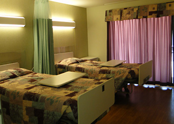 double bed in facility