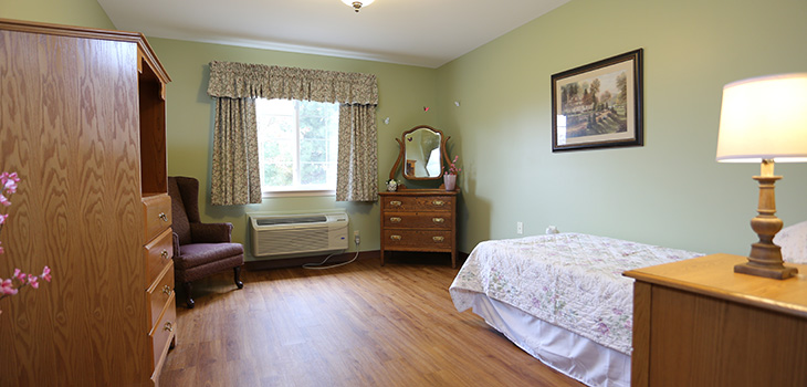 bedroom inside crystal creek assisted living