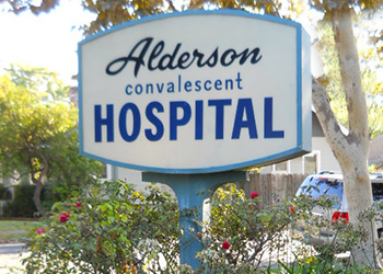 Alderson Convalescent Hospital sign