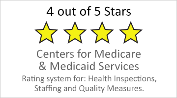4 out of 5 stars Medicare and Medicaid services rating button