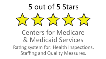 5 out of 5 stars for Medicare and Medicaid Services button