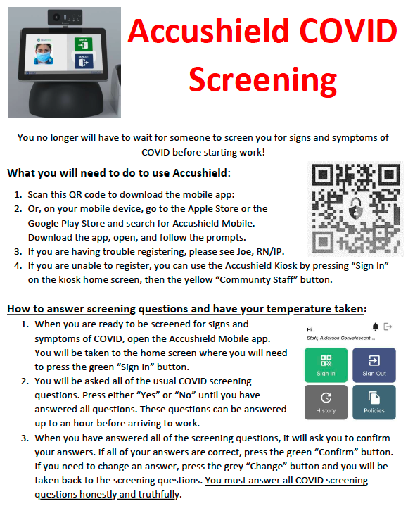 Employees screening page 1