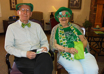 Residents dressed up for St. Paddy's Day