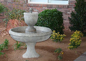 decorative outdoor water feature