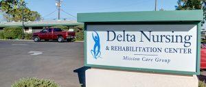 delta nuring center sign