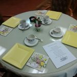 "Sterling Heights ""High Tea"" table setting"