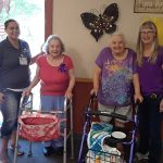 staff & residents celebrating the 4th of July