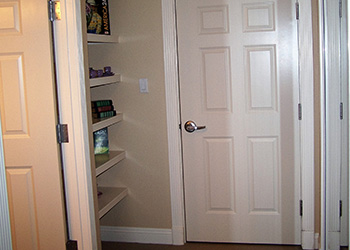 spacious closet and storage area