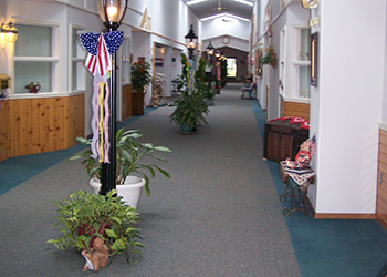 the facility's hall