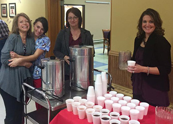 nurses at the facility drinking warm drinks
