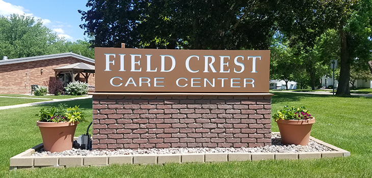 field crest care center sign