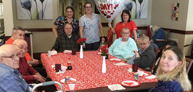 Valentines Day May 2019 with residents.