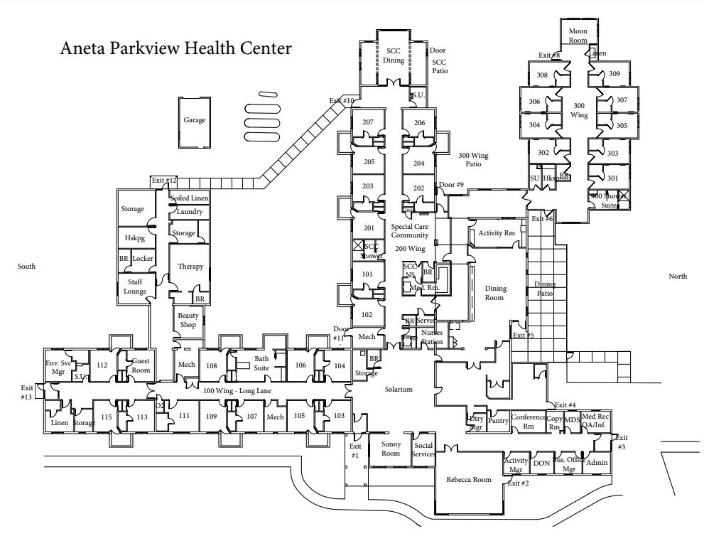 Aneta Parkview Health Center Community Floor Plans