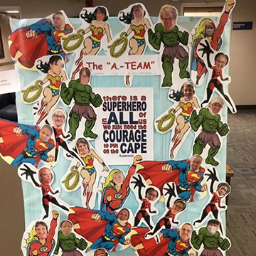 There is a superhero in all of us, courage