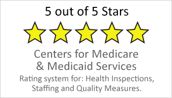 5 star rating from Centers for Medicare & Medical Services