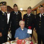 resident celebrating Veterans Day