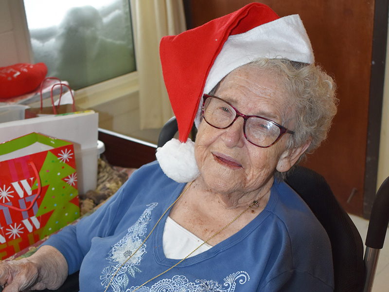 Pioneer Manor resident Christmas