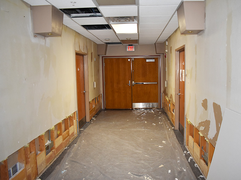 Pioneer Manor remodeling facility after damage