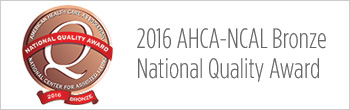 2016 AHCA-NCAL Bronze National Quality Award button