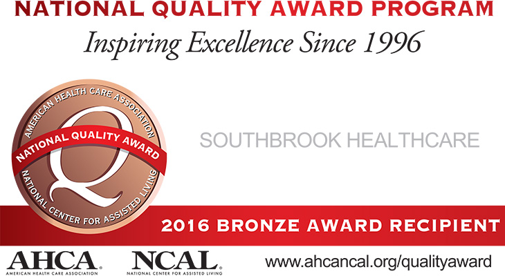 AHCA NCAL National Quality Bronze Award 2016