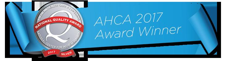 AHCA 2017 Award Winner banner