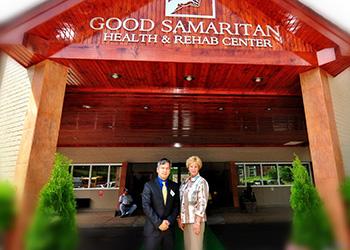 staff in front of good samaritan building