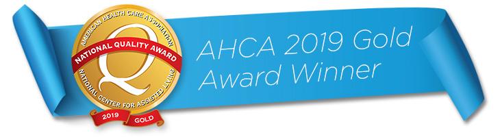 AHCA 2019 gold award winner