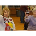Residents raising their glasses